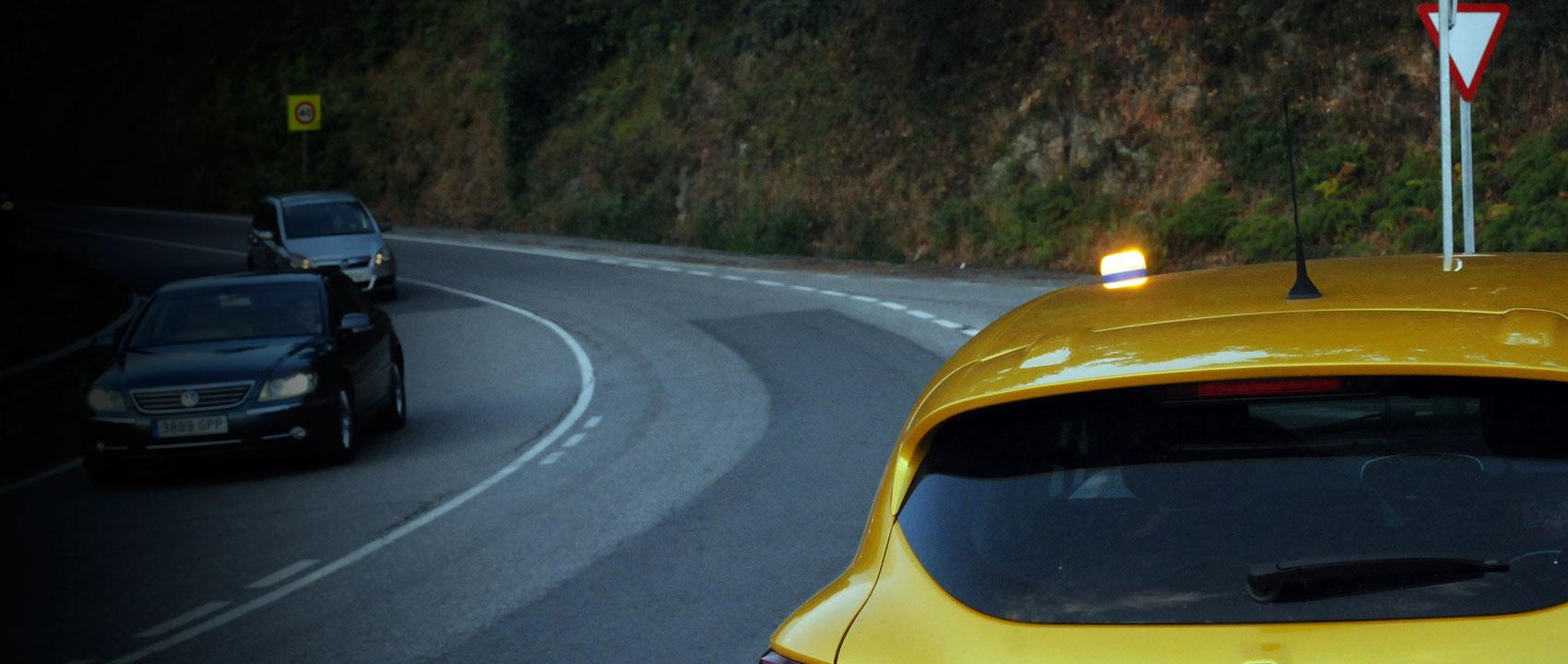 Rec Flash luz de emergencia destellos amarillo auto